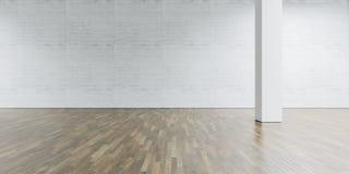 Otwartej przestrzeni kolumna w centrum i galeria cegła Zdjęcie Royalty Free