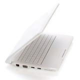 Otwarty biel laptop Obrazy Stock