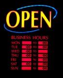 otwarty biznesowy neon Zdjęcie Stock