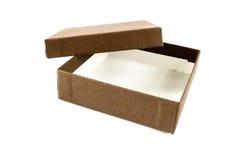 Otwarty Brown pudełko odizolowywający zdjęcie stock