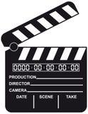 otwarty cyfrowy clapboard film royalty ilustracja