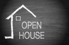 Otwarty dom - Real Estate zdjęcie stock