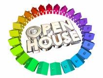 Otwarty dom Stwarza ognisko domowe dla sprzedaży słów ilustracji