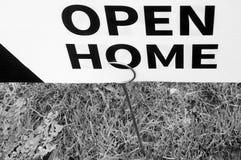 Otwarty domu znak Fotografia Royalty Free