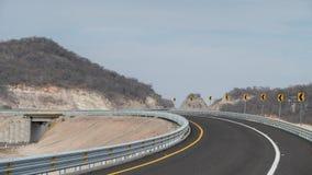 Otwarty drogowy obraca dalej z lewej strony zdjęcie royalty free