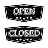 Otwarty i Zamknięty Zdjęcia Royalty Free