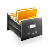 otwarty karciany katalog