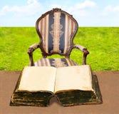 otwarty książki miejsce pracy Zdjęcie Royalty Free