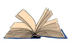 Otwarty książkowy wektorowy symbol ikony projekt Piękny ilustraci isol Zdjęcia Stock