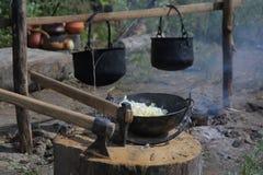 otwarty kulinarny ogień Fotografia Stock