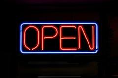 otwarty neon znak Obraz Royalty Free