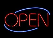 otwarty neon znak Obrazy Royalty Free