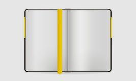 Otwarty notatnik z Bookmarked stroną Obrazy Royalty Free
