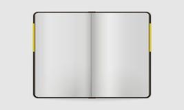 Otwarty notatnik z Bookmarked stroną | Wektor Próbny U Obraz Stock