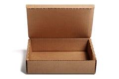 otwarty pudełkowaty karton Zdjęcia Royalty Free