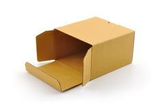 otwarty pudełkowaty karton Fotografia Stock