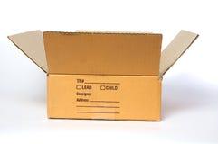 otwarty pudełkowaty karton Fotografia Royalty Free