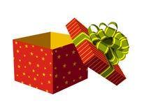 otwarty pudełkowaty prezent ilustracji