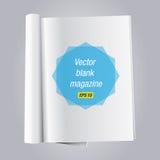 Otwarty pustego miejsca książki magazyn Zdjęcia Royalty Free