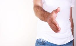 otwarty ręka mężczyzna Zdjęcie Stock