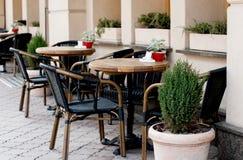 Otwarty restauracja taras Zdjęcie Royalty Free