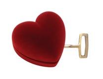 otwarty serce klucz Zdjęcia Stock