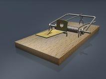 otwarty szary tła mousetrap Obraz Stock