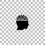 Otwarty umys? ikony mieszkanie royalty ilustracja