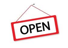 Otwarty znaka sklep Zdjęcia Royalty Free