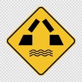 Otwierać mostu znaka na przejrzystym tle ilustracji