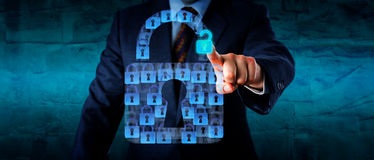 Otwierać Wirtualną kędziorek część ochrona App Obraz Stock