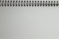 Otwiera akwarela rysunkowego notatnika Fotografia Stock