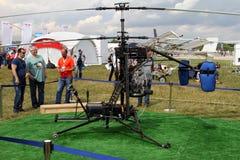 Otwiera autogiro przy Międzynarodowym lotnictwem i Interliniuje salon MA Zdjęcia Stock