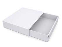 Otwiera białego pudełko Fotografia Royalty Free
