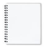 Otwiera białego notatnika frontowa pokrywa odizolowywa Fotografia Royalty Free