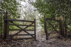 Otwiera bramę Zdjęcie Royalty Free