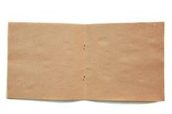 Otwiera brown skatchbook zdjęcie royalty free
