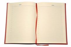 Otwiera czerwonego dzienniczek Obrazy Stock