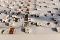 Otwiera DOWODZONEGO panel LEDs zakończenie Dołączać kierowców Obrazy Stock