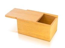 Otwiera drewnianego pudełko Obrazy Royalty Free