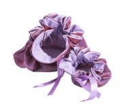 Otwiera duże i małe torby purpurowe Zdjęcie Stock