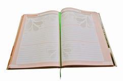 Otwiera dziennego dzienniczek dla dziennik notatki Obraz Royalty Free