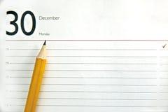 Otwiera dzienniczek, planisty lub notatnika, obraz stock