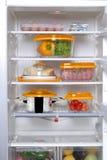 Otwiera fridge Zdjęcie Stock