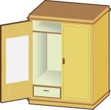 Otwiera garderobę - Wektorowa ilustracja Ilustracja Wektor