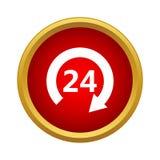 Otwiera 24 godziny ikony, prosty styl ilustracji