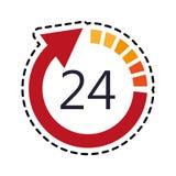 otwiera 24 7 ikony wizerunku Zdjęcie Royalty Free