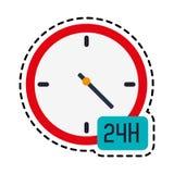 otwiera 24 7 ikony wizerunku Zdjęcia Stock