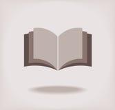 Otwiera książkę. ilustracji