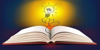 Otwiera książkę wyraża pojęcie pomysł royalty ilustracja